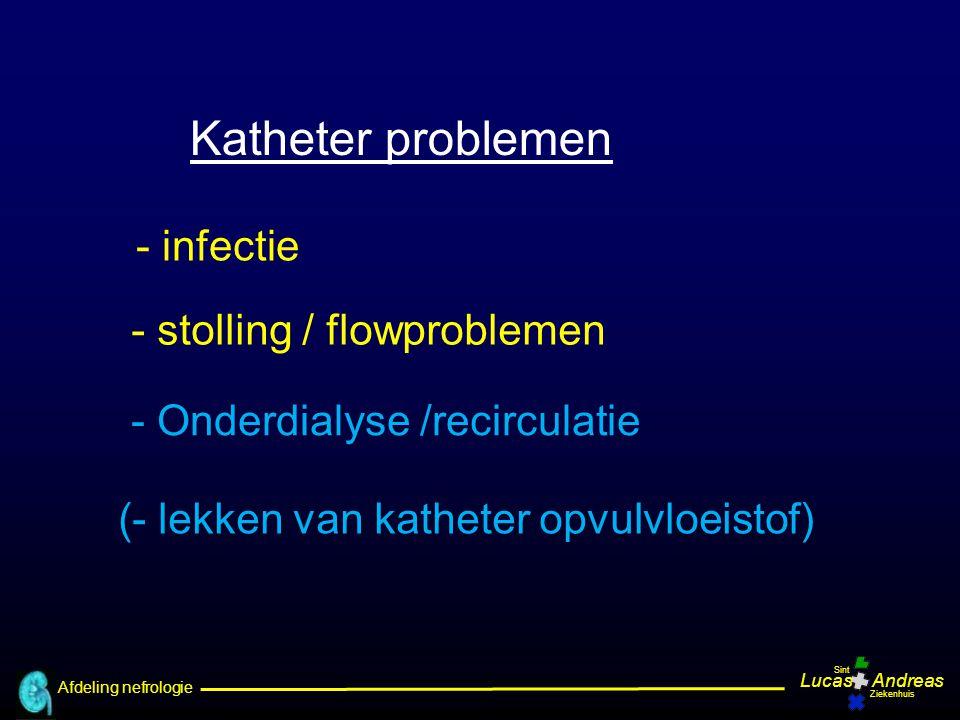 Afdeling nefrologie LucasAndreas Sint Ziekenhuis TIP 1 Tips en tricks om katheter problemen te voorkomen Uw praktijk ?