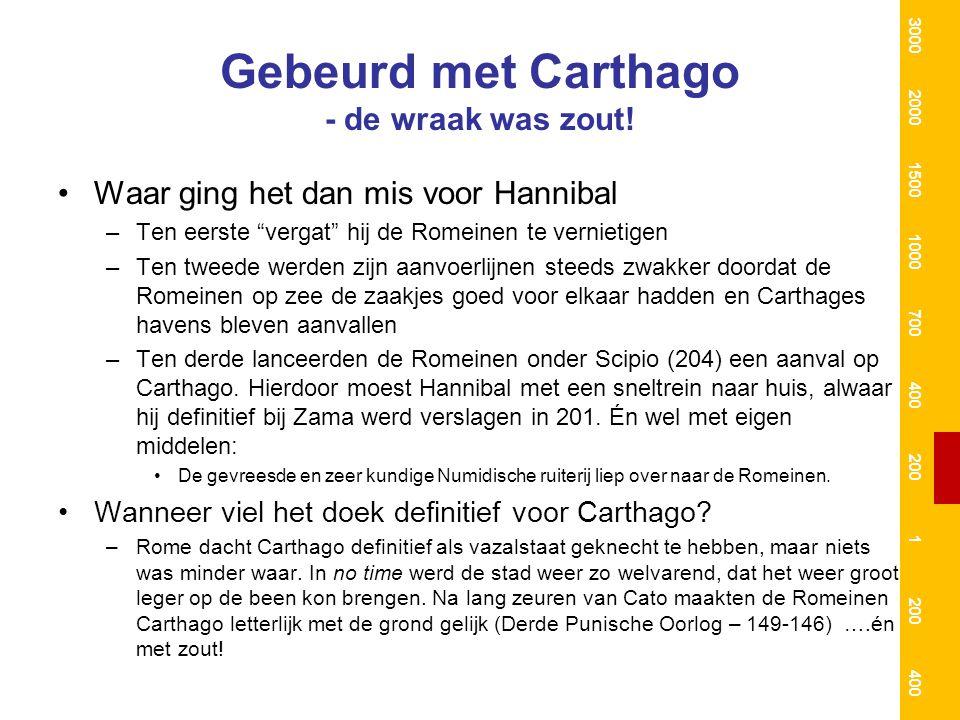 Gebeurd met Carthago - de wraak was zout.