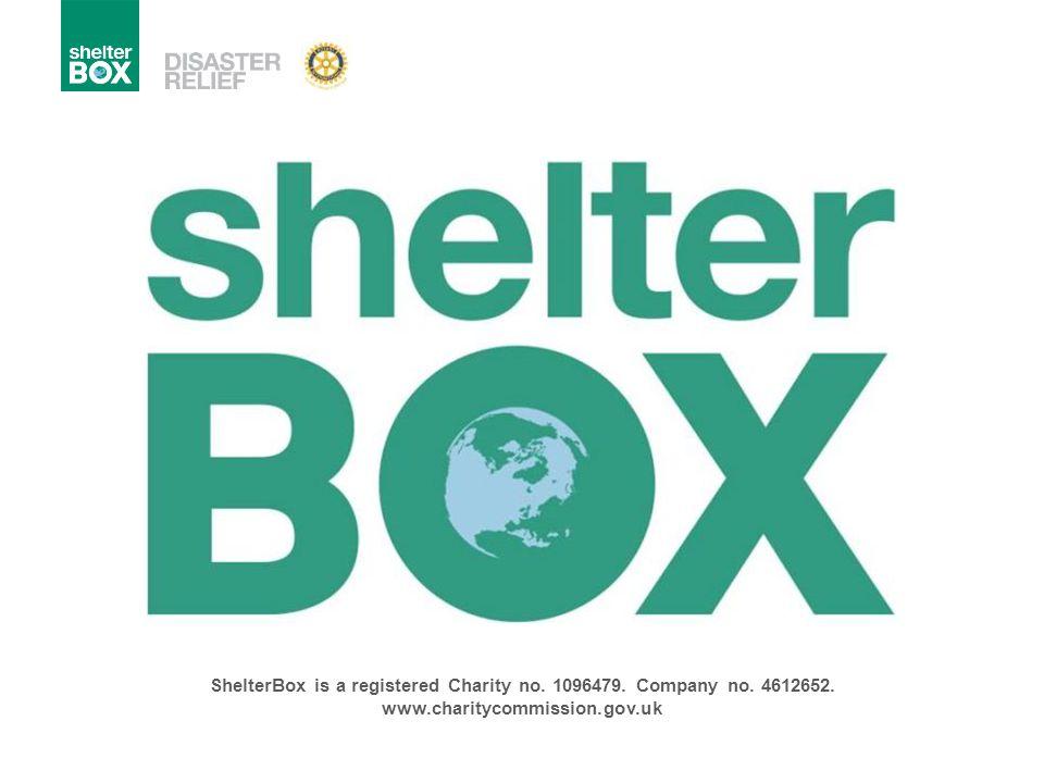 ShelterBox Visie Een wereld nastreven waar iedere dakloze persoon een onderdak krijgt en kan beschikken over het noodzakelijke materiaal om verder te leven.
