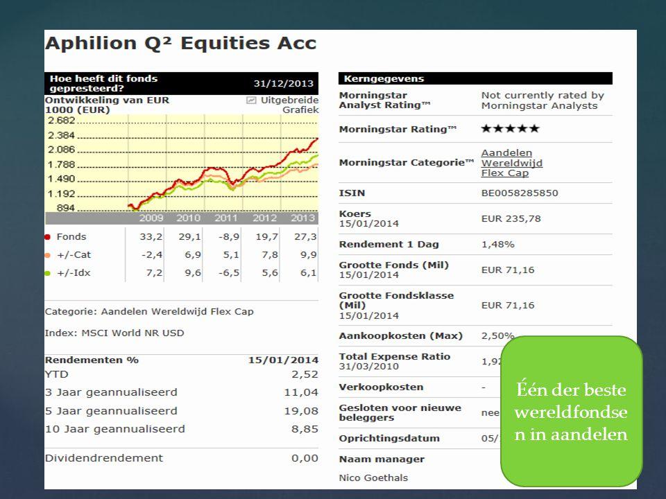 20/08/2014 14 Één der beste wereldfondse n in aandelen