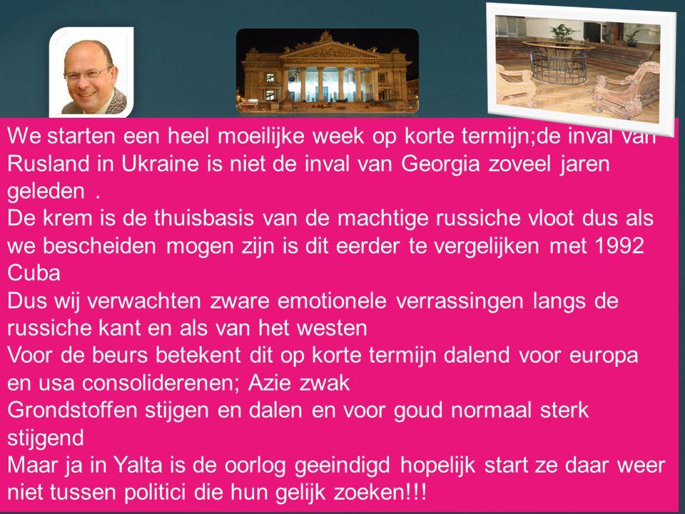 20/08/2014 2 We starten een heel moeilijke week op korte termijn;de inval van Rusland in Ukraine is niet de inval van Georgia zoveel jaren geleden. De