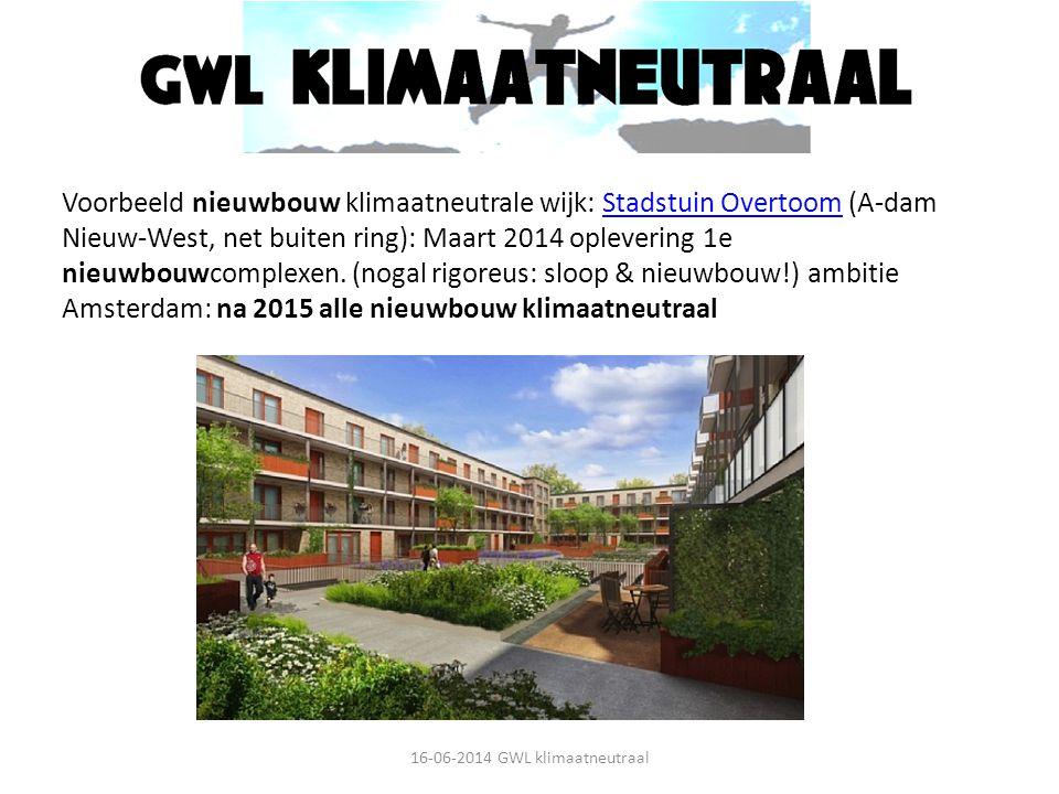 Voorbeeld nieuwbouw klimaatneutrale wijk: Stadstuin Overtoom (A-dam Nieuw-West, net buiten ring): Maart 2014 oplevering 1e nieuwbouwcomplexen. (nogal