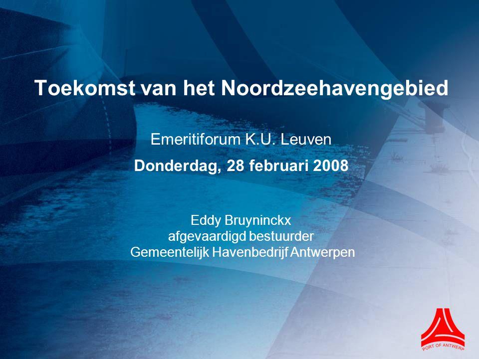 Economisch belang haven van Antwerpen Toegevoegde waarde (cijfers Nationale Bank van België) TOEGEVOEGDE WAARDE