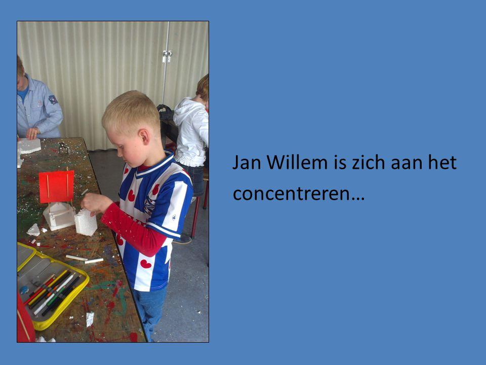 Jan Willem is zich aan het concentreren…
