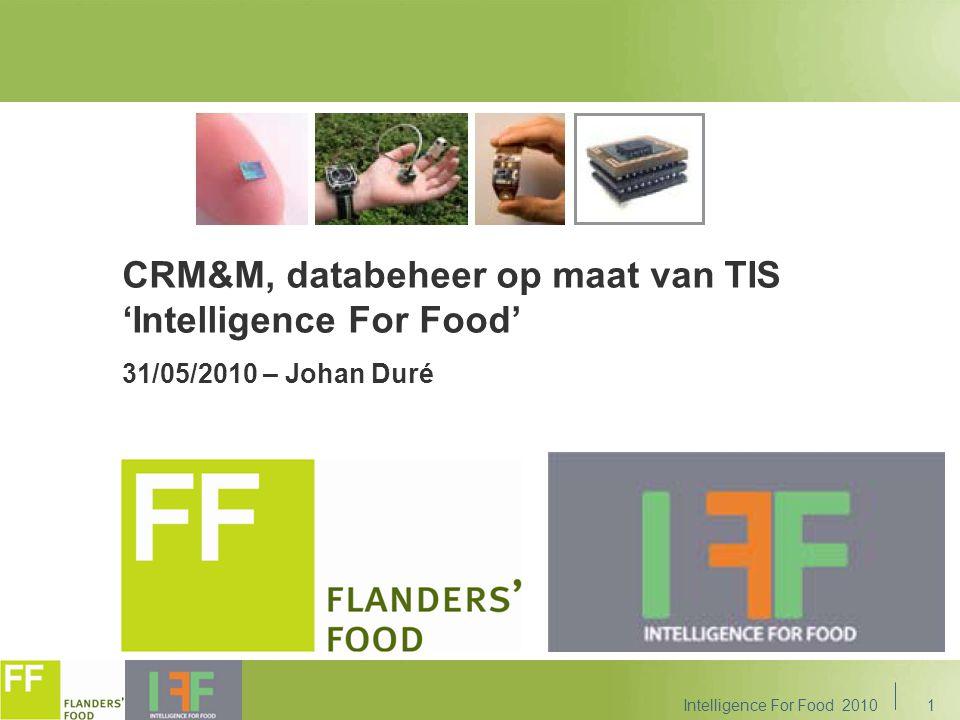 Voorbeeld: Lavetan – verslag Intelligence For Food 201012 Aanwezigen Exporteren naar Excel Gelinkt traject Acties Verslag