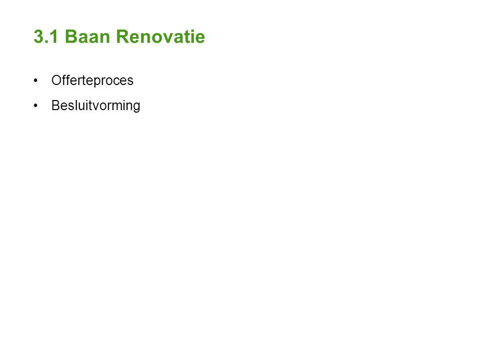 3.1 Baan Renovatie Offerteproces Besluitvorming
