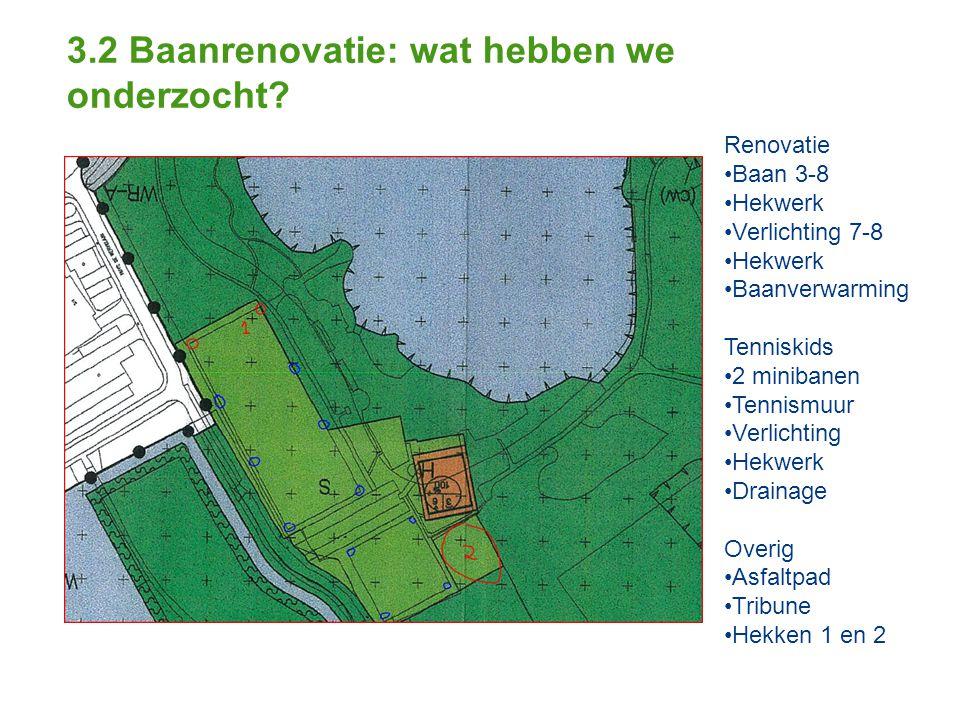 3.2 Baanrenovatie: wat hebben we onderzocht.
