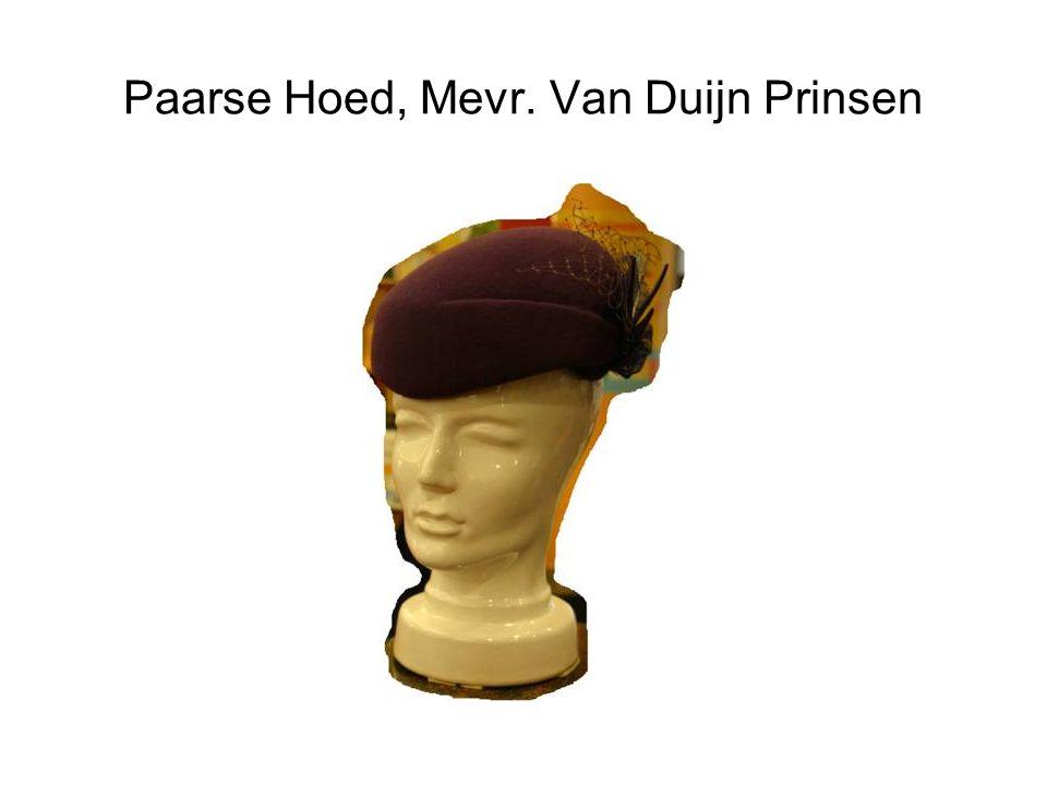 Paarse Hoed, Mevr. Van Duijn Prinsen