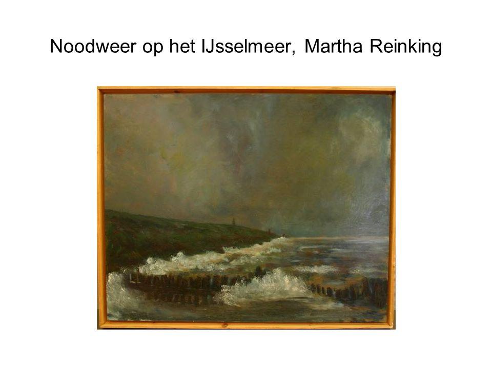 Noodweer op het IJsselmeer, Martha Reinking
