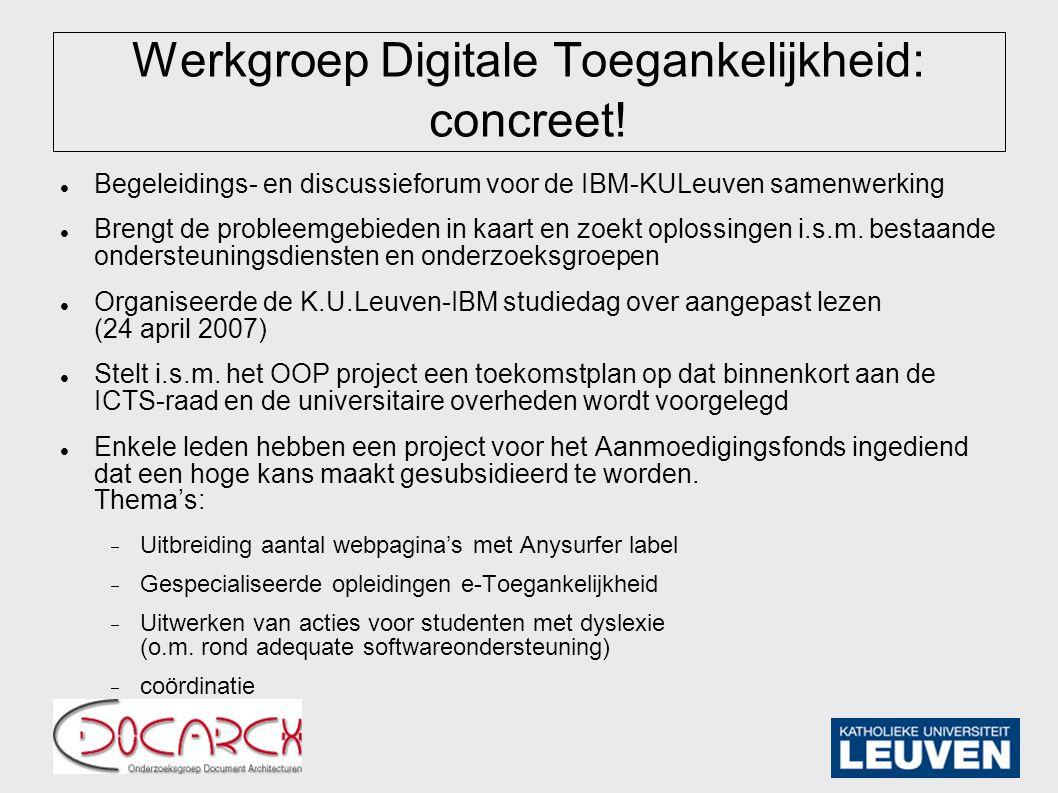 Werkgroep Digitale Toegankelijkheid: concreet.
