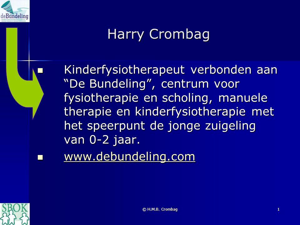 """© H.M.B. Crombag1 Harry Crombag Kinderfysiotherapeut verbonden aan """"De Bundeling"""", centrum voor fysiotherapie en scholing, manuele therapie en kinderf"""