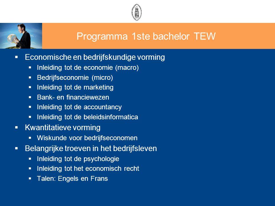  Economische en bedrijfskundige vorming  Inleiding tot de economie (macro)  Bedrijfseconomie (micro)  Inleiding tot de marketing  Bank- en financ