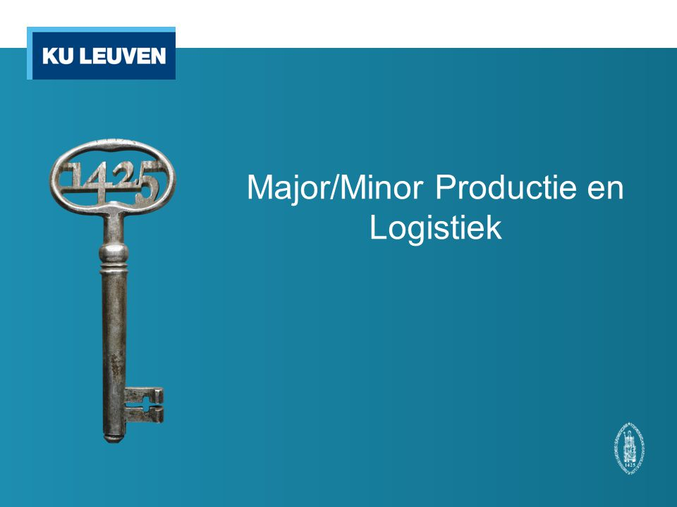 Major/Minor Productie en Logistiek