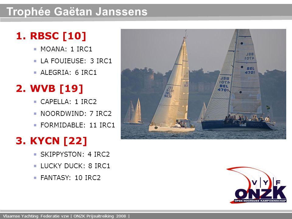 Vlaamse Yachting Federatie vzw | ONZK Prijsuitreiking 2008 | Trophée Gaëtan Janssens 1.
