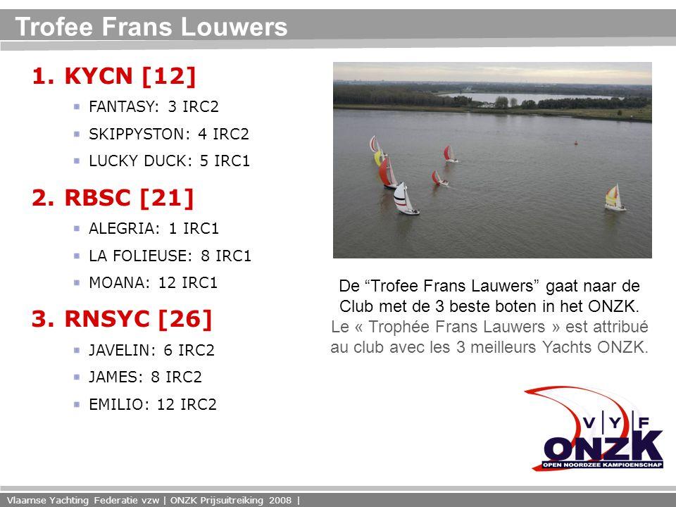Vlaamse Yachting Federatie vzw | ONZK Prijsuitreiking 2008 | Trofee Frans Louwers 1.