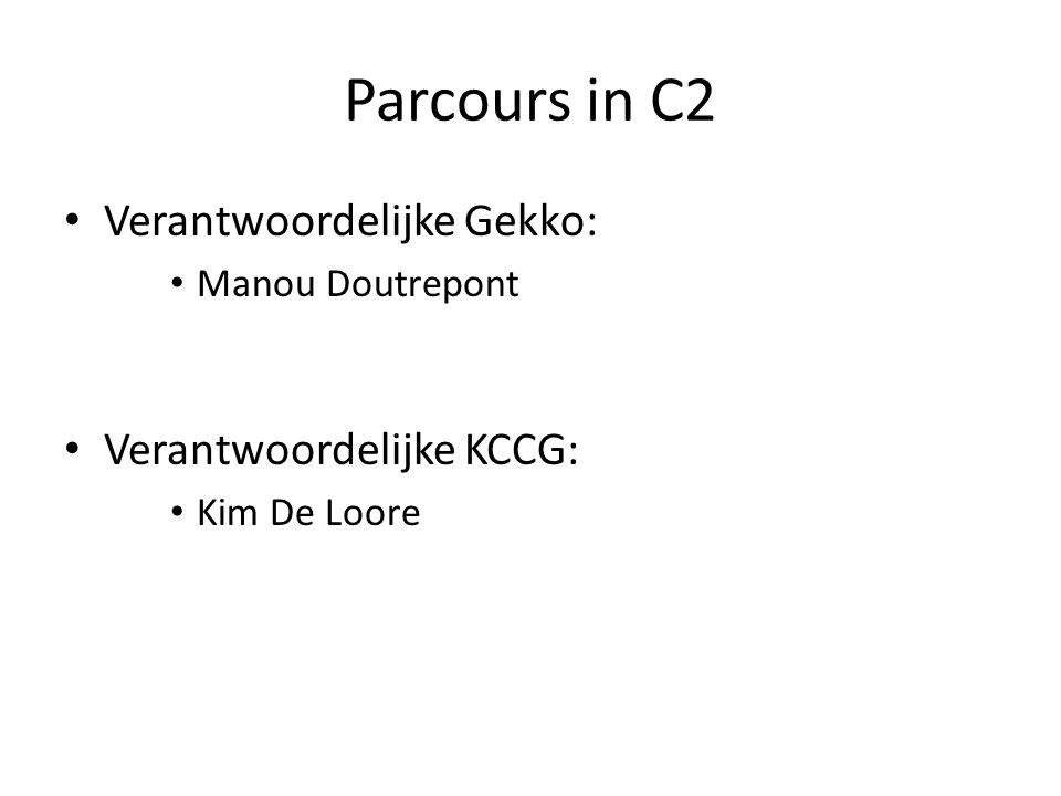 Parcours in C2 Verantwoordelijke Gekko: Manou Doutrepont Verantwoordelijke KCCG: Kim De Loore