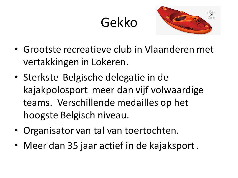 Gekko Grootste recreatieve club in Vlaanderen met vertakkingen in Lokeren.