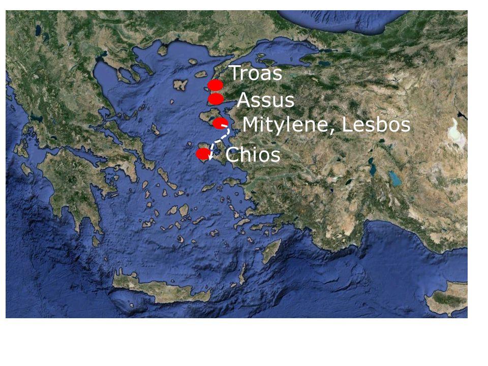 Troas Assus Mitylene, Lesbos Chios