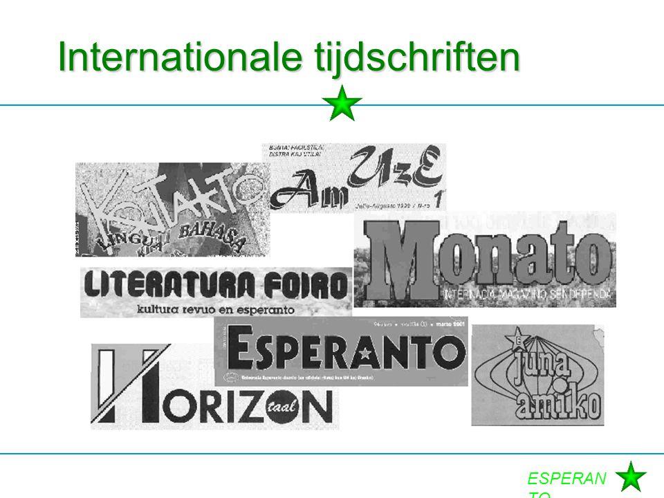 ESPERAN TO Internationale tijdschriften