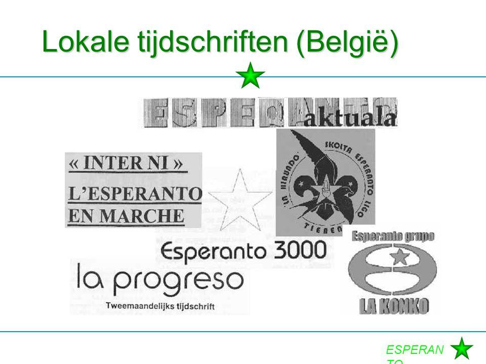 ESPERAN TO Lokale tijdschriften (België)