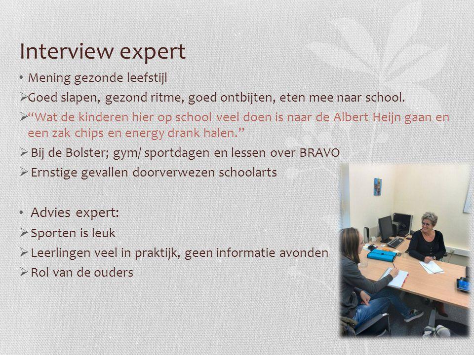 """Interview expert Mening gezonde leefstijl  Goed slapen, gezond ritme, goed ontbijten, eten mee naar school.  """"Wat de kinderen hier op school veel do"""