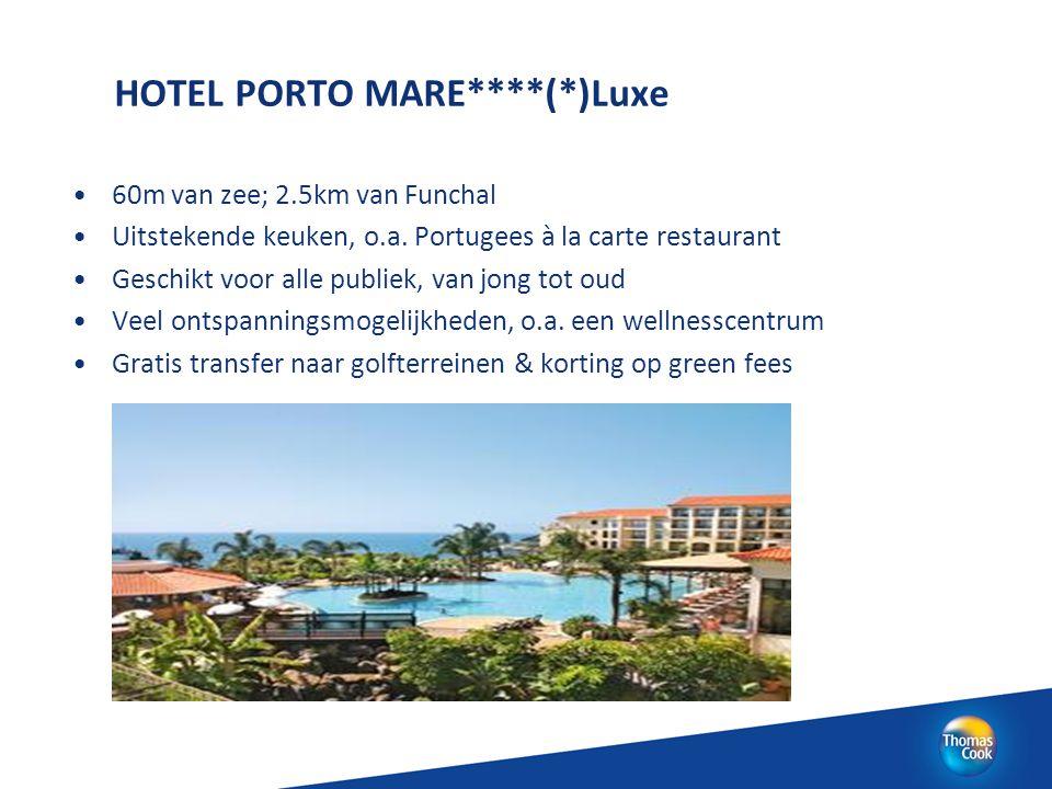 HOTEL PORTO MARE****(*)Luxe 60m van zee; 2.5km van Funchal Uitstekende keuken, o.a. Portugees à la carte restaurant Geschikt voor alle publiek, van jo