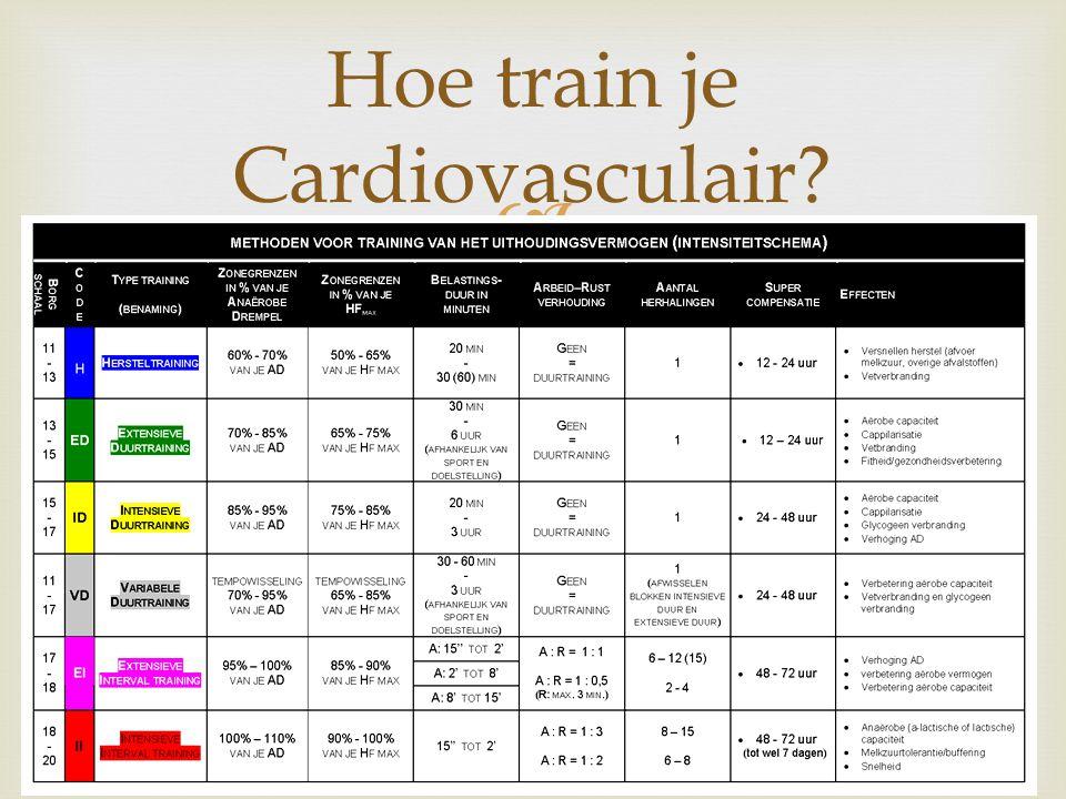 Hoe train je Cardiovasculair?