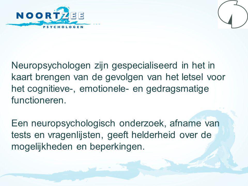 Neuropsychologen werken met mensen met een verstoord brein door ziekte, trauma of een ontwikkelingsstoornis, onder andere: - AD(H)D - dyslexie - hersenvliesontsteking - CVA (cerebraal vasculair accident) - hersenkneuzing/hersenschudding - hersentumor - epilepsie - Alzheimer - schizofrenie - burnout