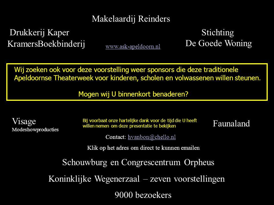 Bij voorbaat onze hartelijke dank voor de tijd die U heeft willen nemen om deze presentatie te bekijken Drukkerij Kaper Makelaardij Reinders Stichting