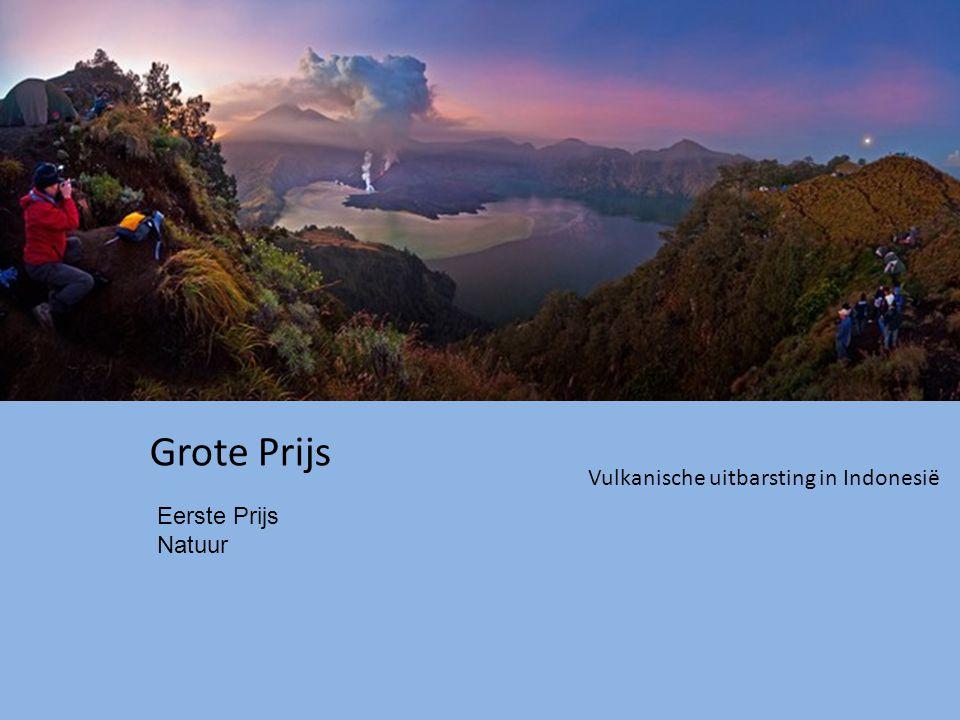 Grote Prijs Vulkanische uitbarsting in Indonesië Eerste Prijs Natuur