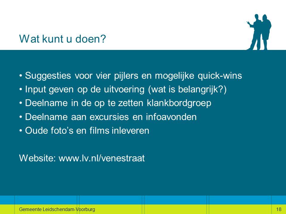 18Gemeente Leidschendam-Voorburg18 Wat kunt u doen.
