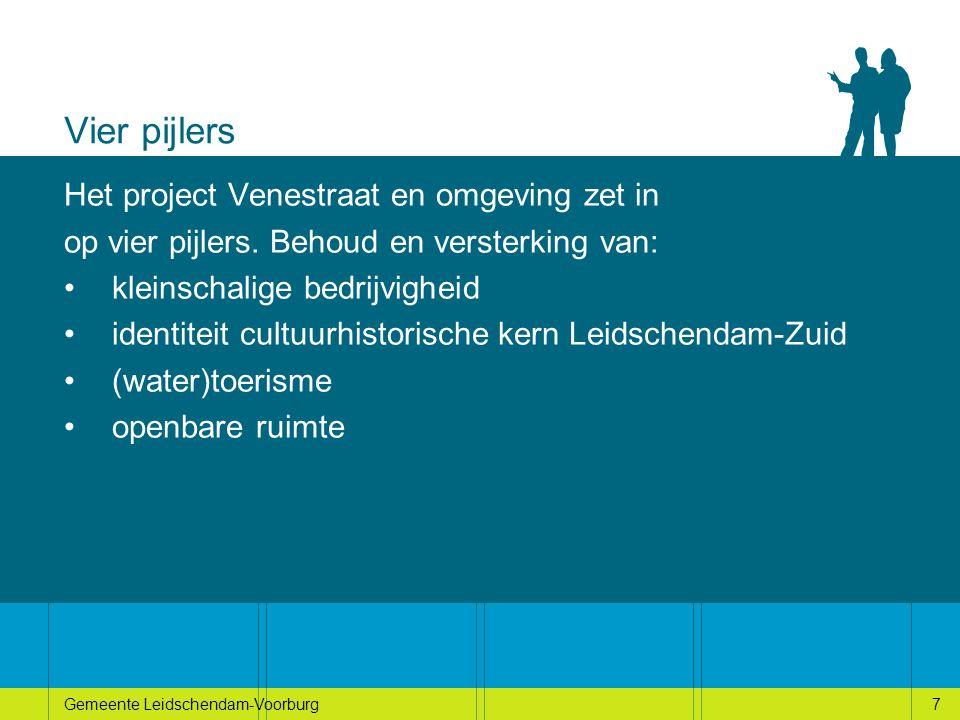 7Gemeente Leidschendam-Voorburg7 Vier pijlers Het project Venestraat en omgeving zet in op vier pijlers.