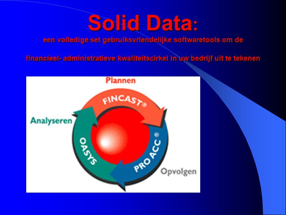 Solid Data, de software met een kwaliteitsvisie op financieel en administratief gebied Solid Data, de software met een kwaliteitsvisie op financieel en administratief gebied