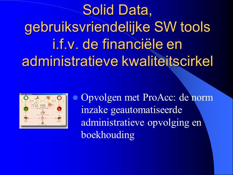 Solid Data, gebruiksvriendelijke SW tools i.f.v. de financiële en administratieve kwaliteitscirkel Opvolgen met ProAcc: de norm inzake geautomatiseerd