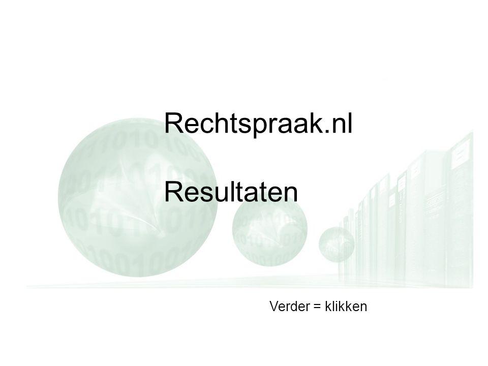 Rechtspraak.nl Resultaten Verder = klikken
