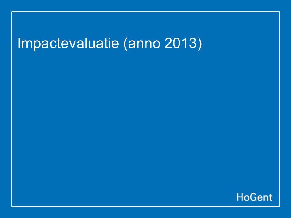 Impactevaluatie (anno 2013)
