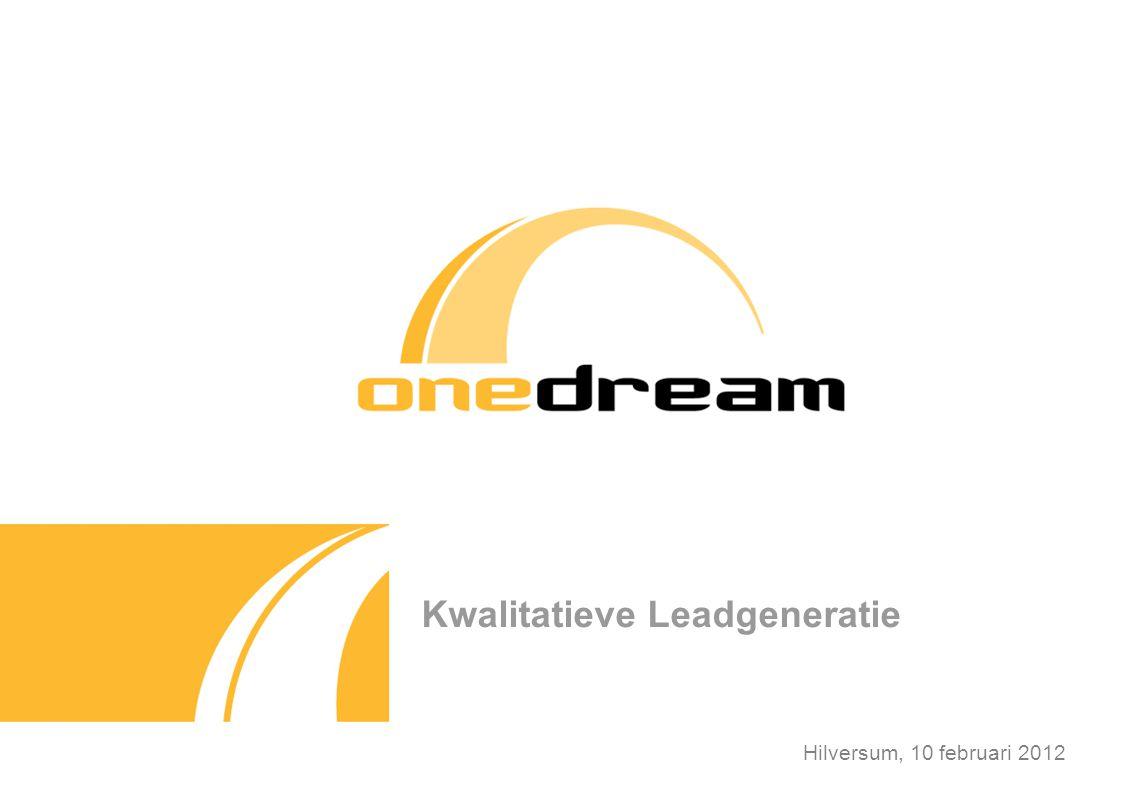 Over OneDream OneDream is onderdeel van de eFuture Group (verantwoordelijk voor het succes VakantieVeilingen.nl) Gespecialiseerd in het opbouwen van kwalitatieve e-mail databases Een intern bereik van 1,4 miljoen consumenten Online sparen en besparen
