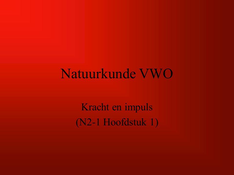 Natuurkunde VWO Kracht en impuls (N2-1 Hoofdstuk 1)