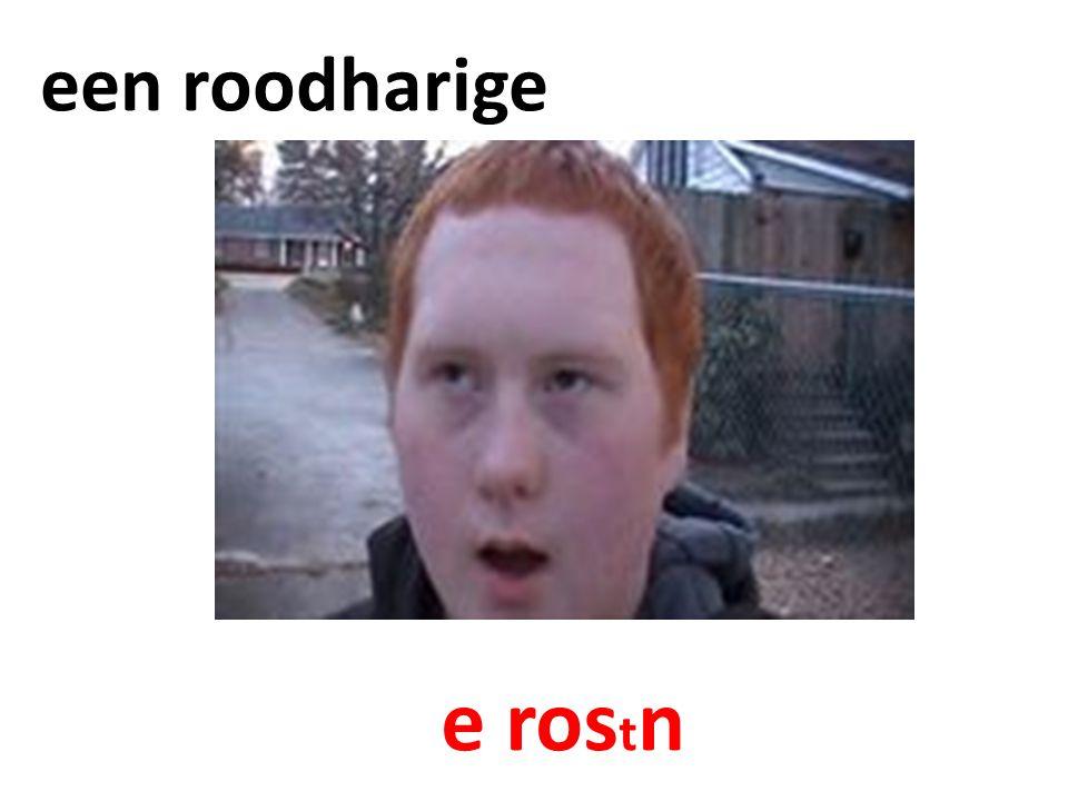 een roodharige e ros t n