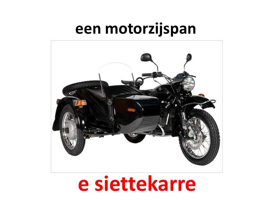 een motorzijspan e siettekarre