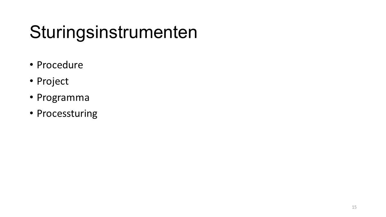 Sturingsinstrumenten Procedure Project Programma Processturing 15