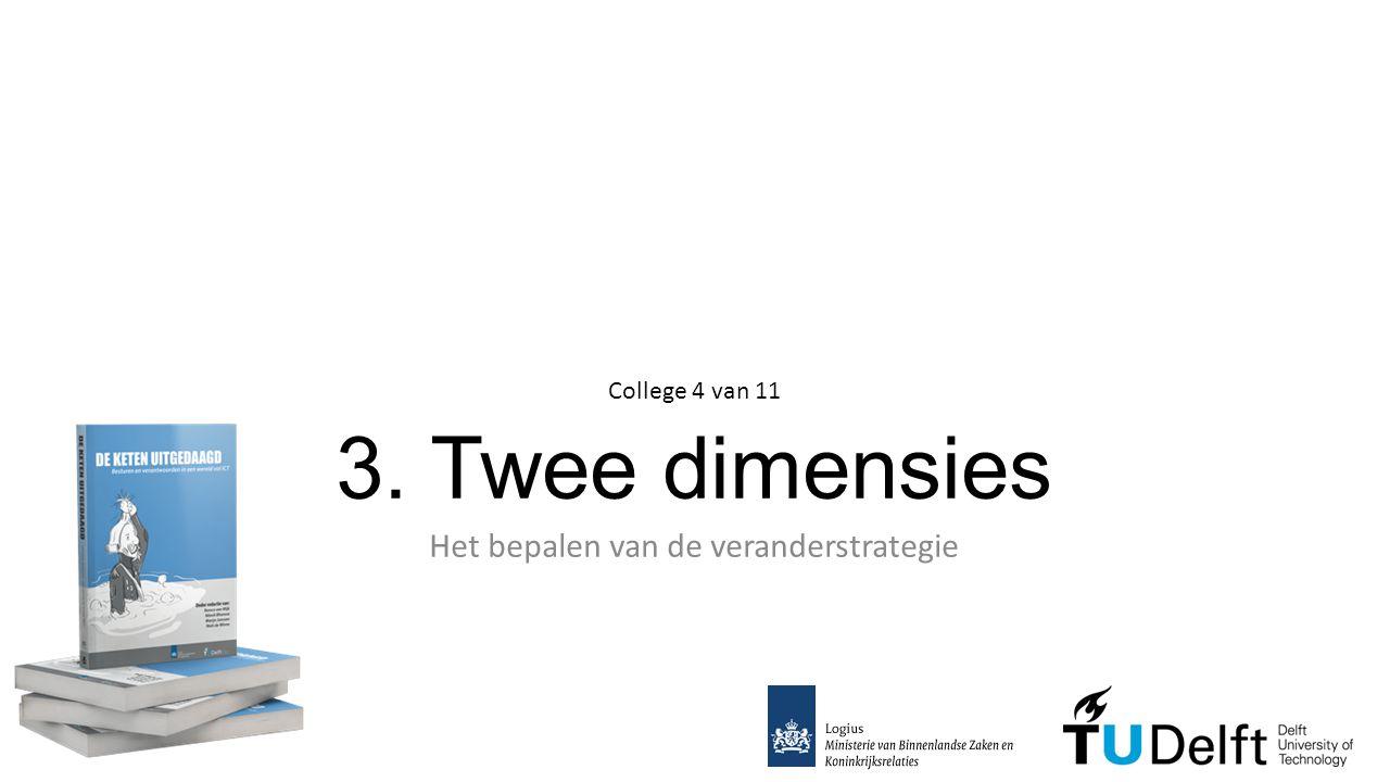 3. Twee dimensies Het bepalen van de veranderstrategie College 4 van 11