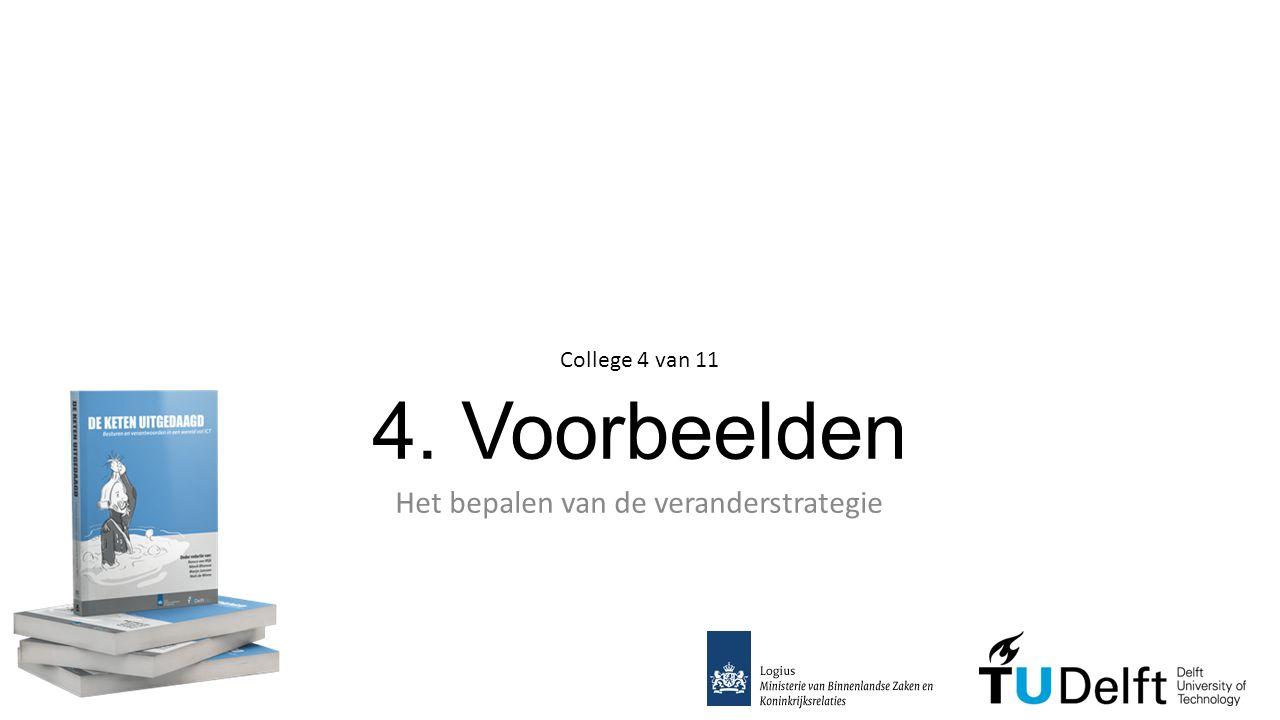 4. Voorbeelden Het bepalen van de veranderstrategie College 4 van 11