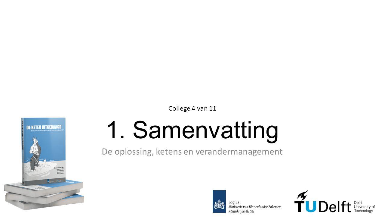 1. Samenvatting De oplossing, ketens en verandermanagement College 4 van 11