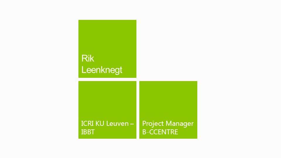 Project Manager B-CCENTRE ICRI KU Leuven – IBBT
