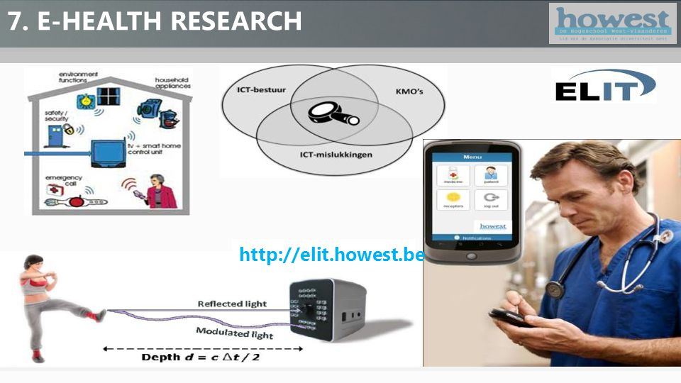 7. E-HEALTH RESEARCH http://elit.howest.be