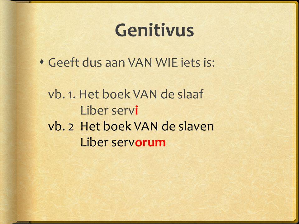 Bijv.nw + gen. Na bepaalde bijvoeglijke naamwoorden kan een genitivus komen.