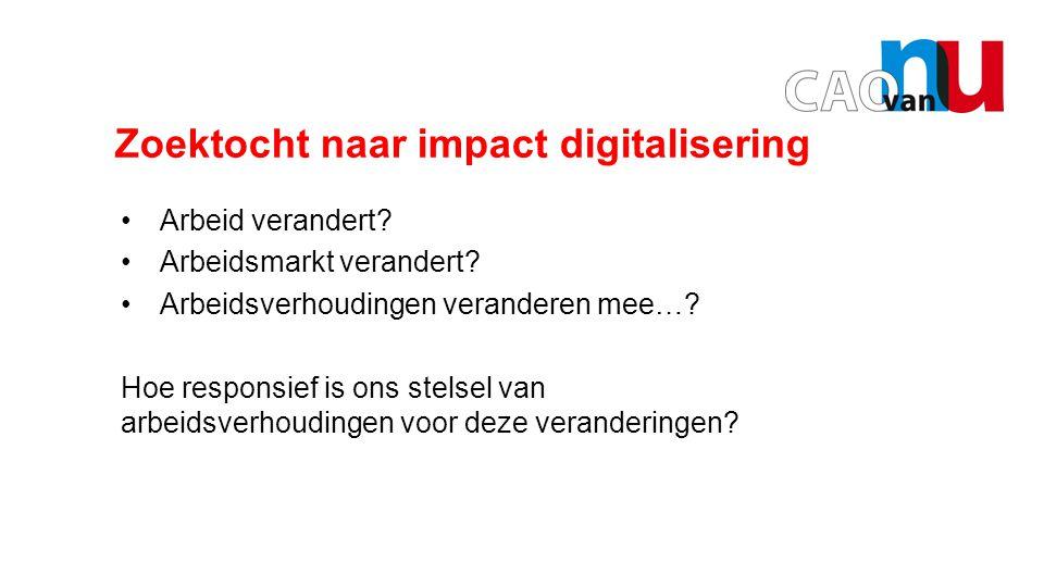 Opening door Hans Borstlap Zoektocht naar impact digitalisering Arbeid verandert.