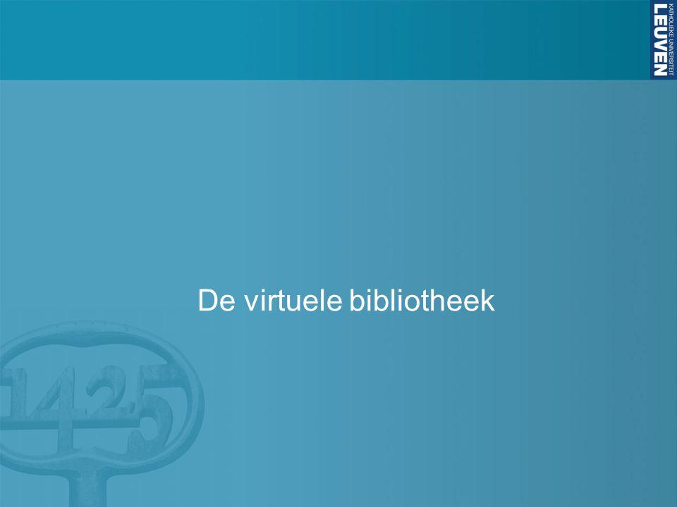 De virtuele bibliotheek