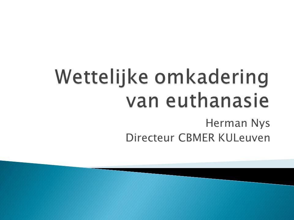 Herman Nys Directeur CBMER KULeuven